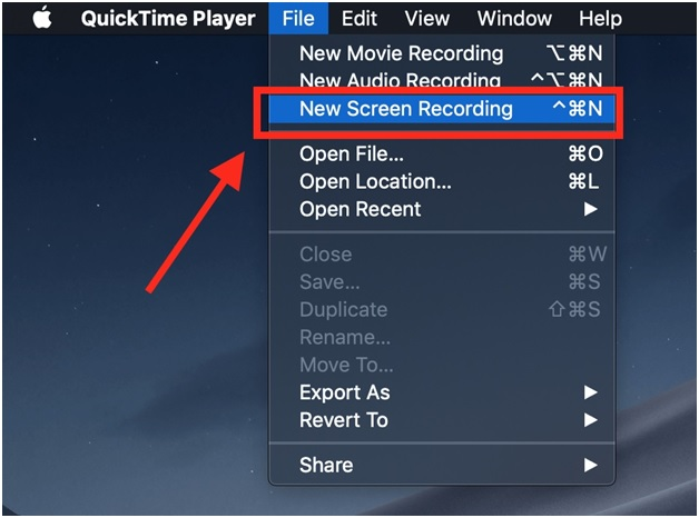 quicktime player main window