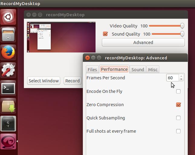 recordmydesktop ubuntu