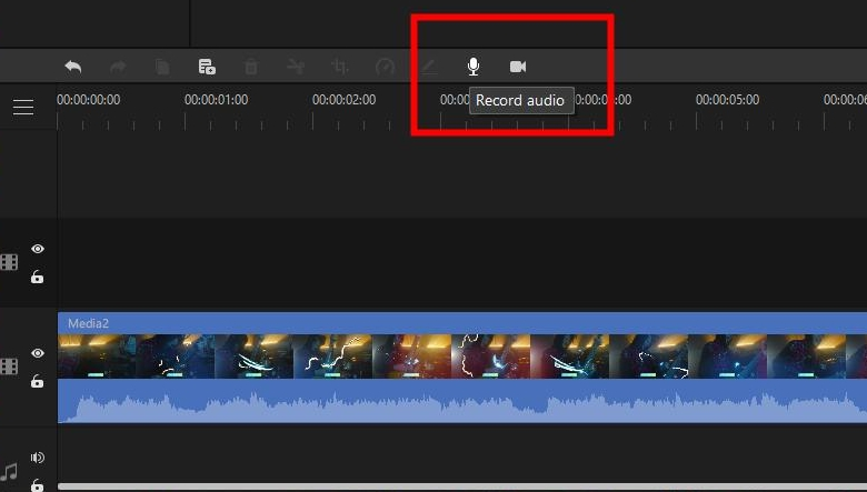 click on microphone to record audio