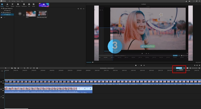 export and share your recorded video
