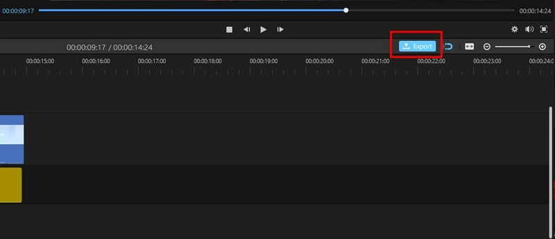 export recorded video in filme