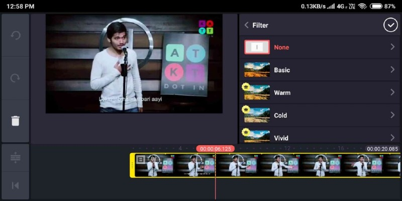 kinemaster mobile video editor add effects and filters