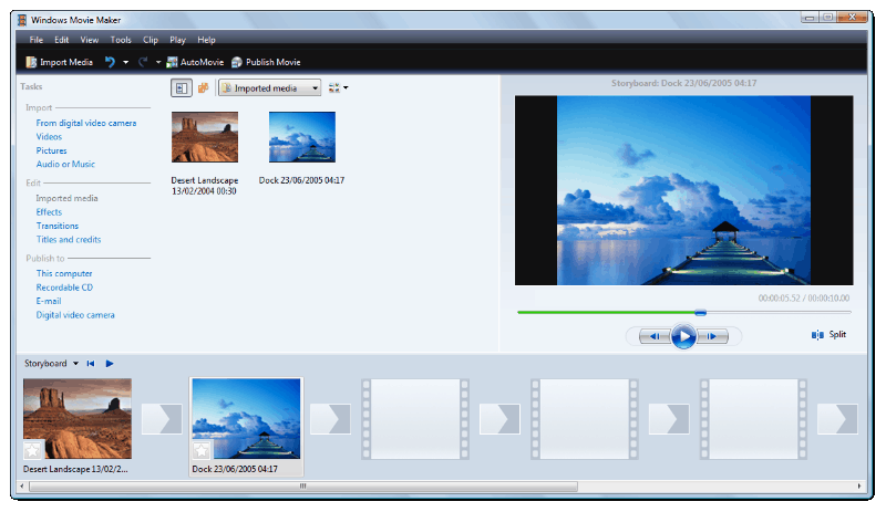 Windows Built-in Movie Maker