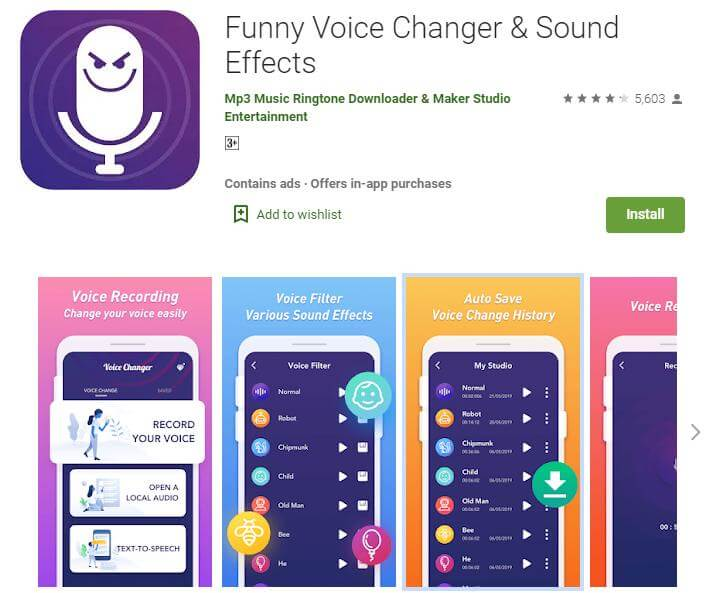 funny voice changer and sound effects