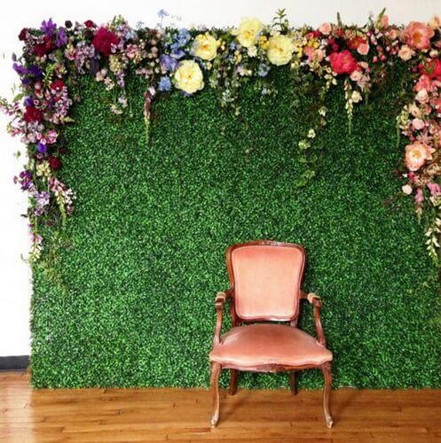 garden backdrop idea