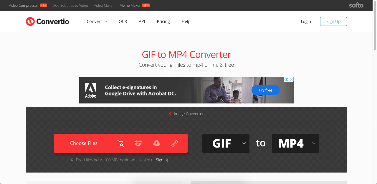 convert gif to video in mac with online tool