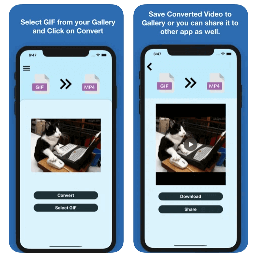 gif to mp4 iphone conversion app