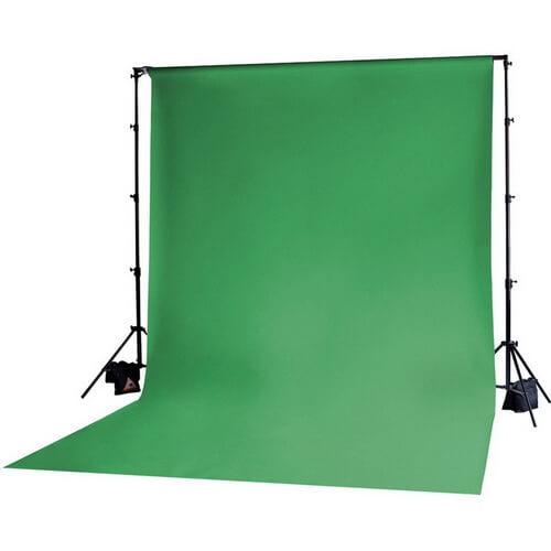 green backdrop idea
