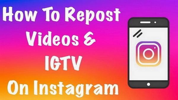 Repost IGTV on Insta Feed
