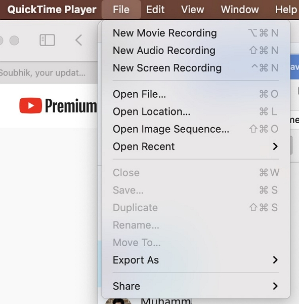 how to screen record MacBook air with QuickTime