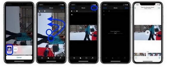 iMovie rotate video iOS iPadOS step 6