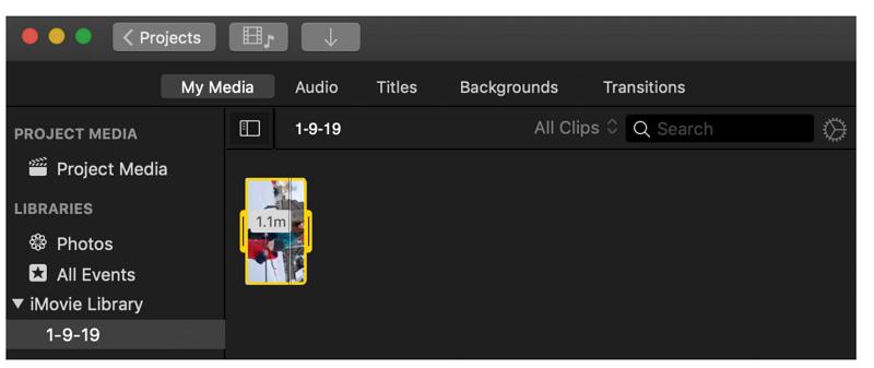 iMovie rotate video macOS step 3