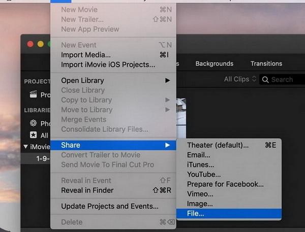 iMovie rotate video macOS step 6-1