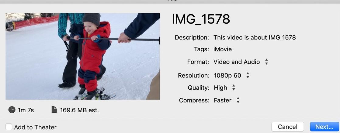 iMovie rotate video macOS step 6-2