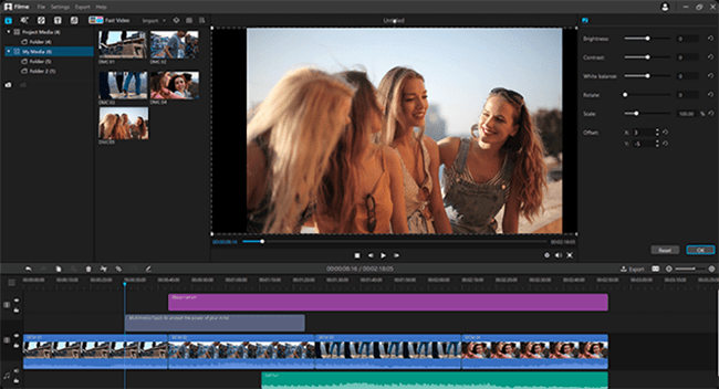 video editor imyfone filme interface