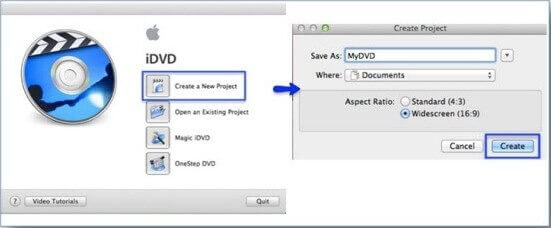 idvd imovie themes project creation