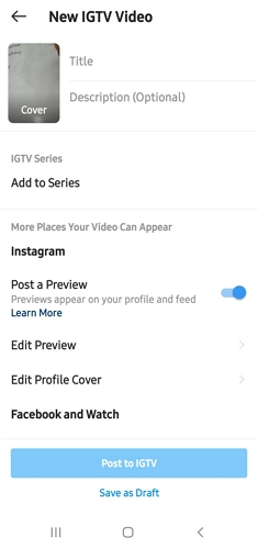 IGTV final post descriptions