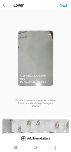 IGTV add a cover image