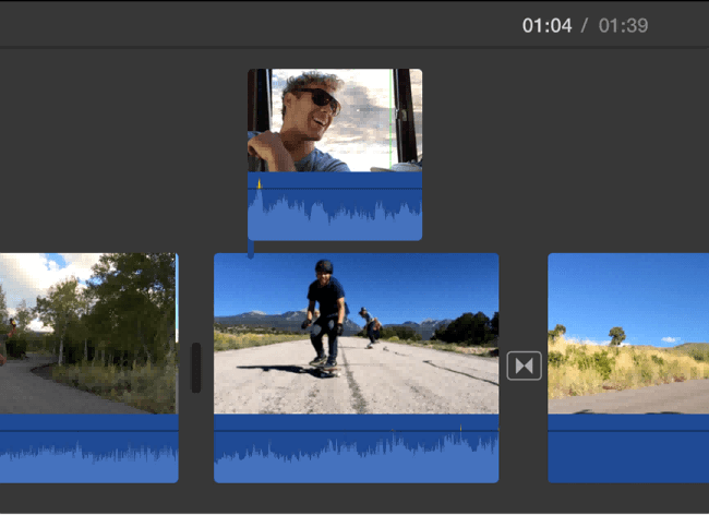 add gif to video imovie import media file
