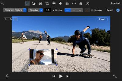 add gif to video imovie overlay