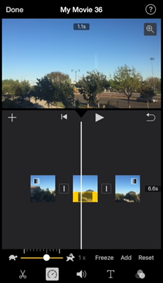 imovie speed up video