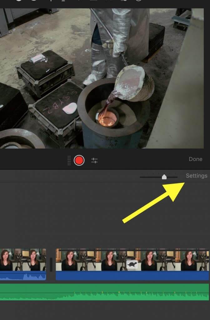 imovie themes settings option