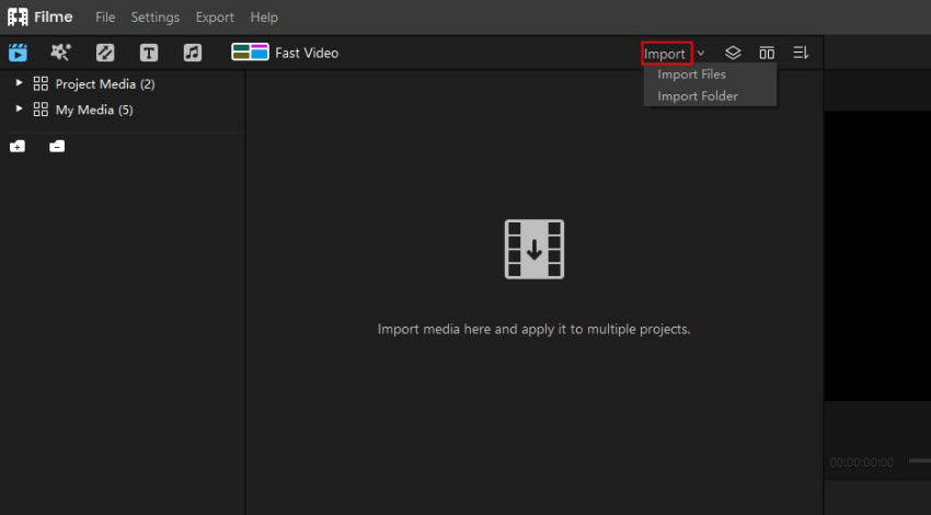 import image and video to imyfone filme for tiktok video