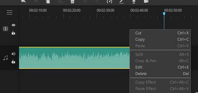 imyfone filme audio editing options