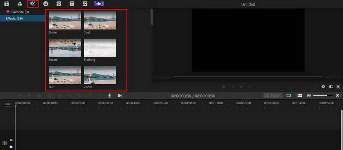 imyfone filme effects tab