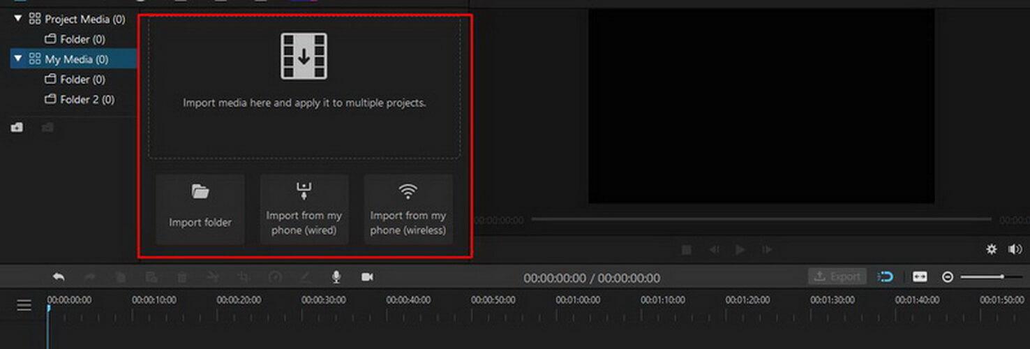 imyfone filme import video