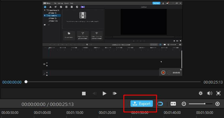imyfone filme recording export