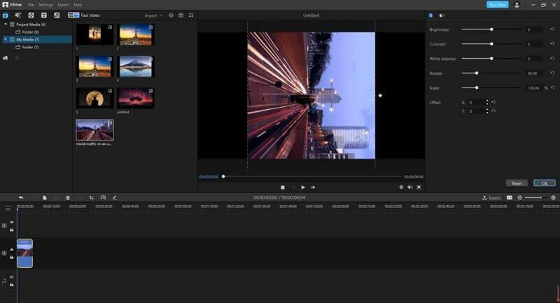 imyfone filme rotating tool screenshot