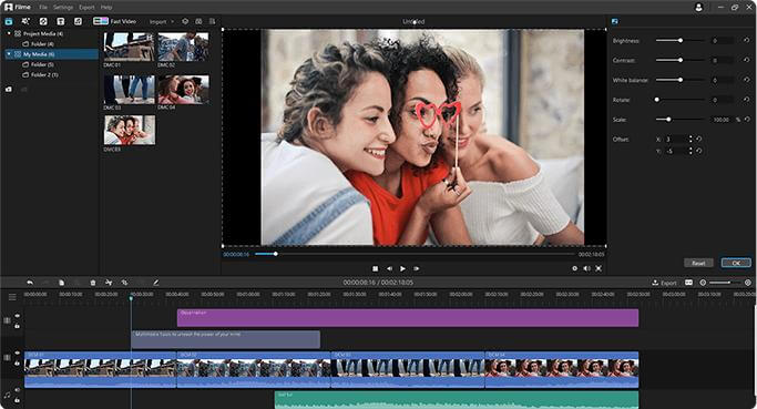 imyfone filme user interface