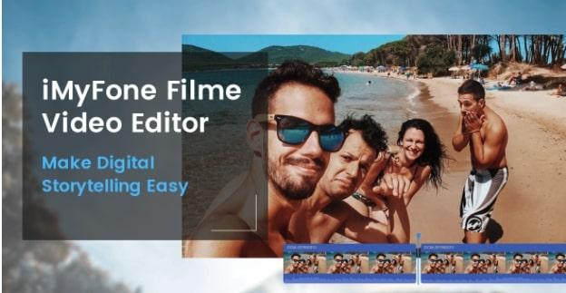 iMyFone Filme editing timeline