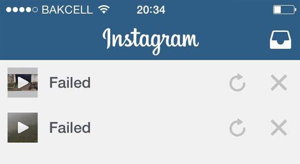 instagram not uploading