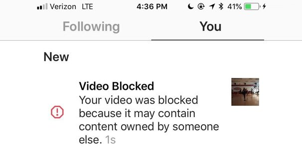 instagram video blocked