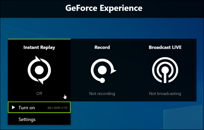 instant replay nvidia