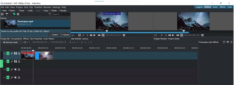 kdenive video editor