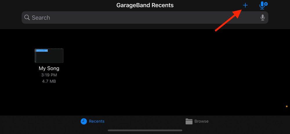 launch garageband to make ringtone