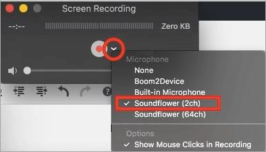 Mac output audio settings for recording