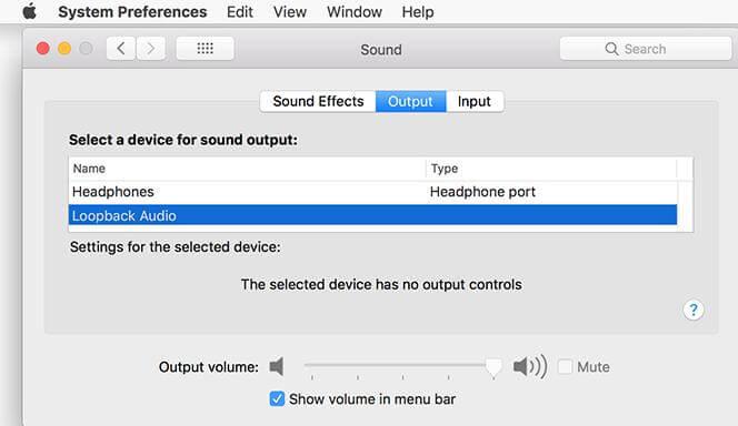 Mac output audio settings