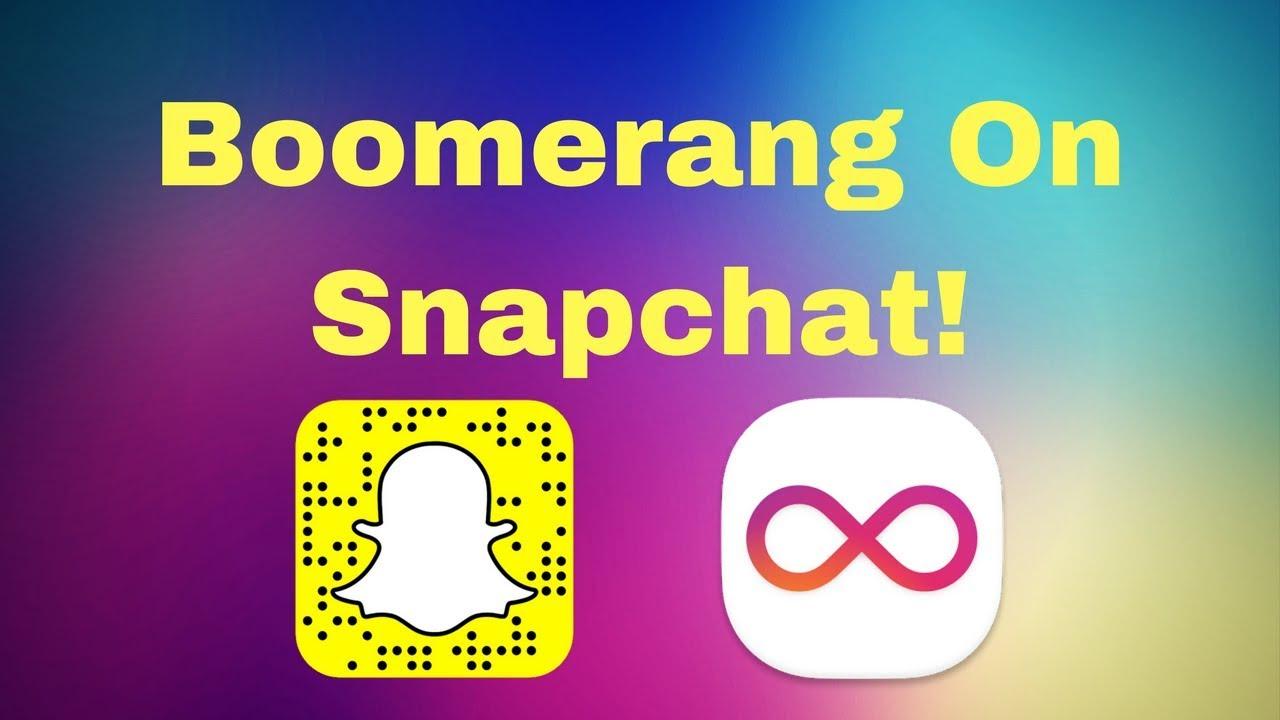 make Boomerang video for snapchat