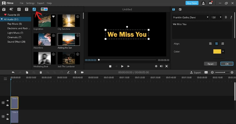 make funeral slideshow add music