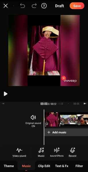 make graduation slideshow VivaVideo Music