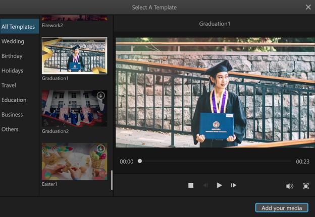 make graduation slideshow filme graduation template