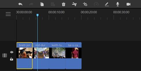 make graduation slideshow filme timeline