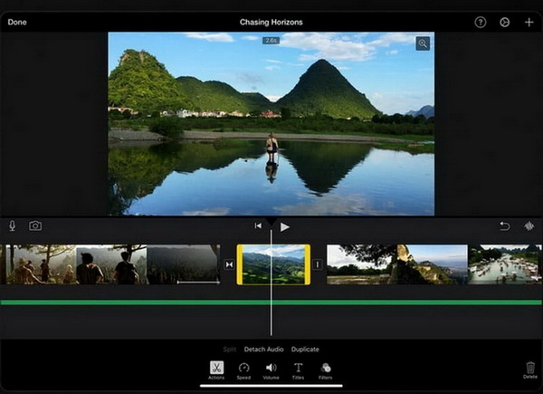 make music video imovie ipad