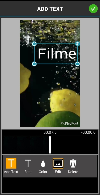 make-photo-slideshow-for-anniversary-party-PicPlayPost-Add-Text