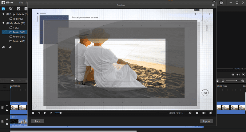 make retirement slideshow in filme
