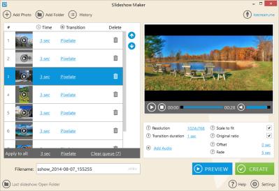make slideshow on icecream slideshow maker